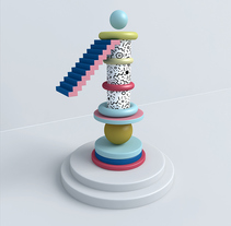 Memphis Numbers. A Design, 3D, T, and pograph project by Alejandro López Becerro         - 14.07.2014