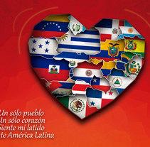 América Latina, un sólo corazón. Um projeto de Design, Publicidade e Design gráfico de Ricardo José Calvente Cordón         - 25.07.2014