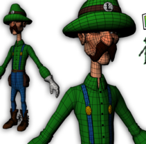 Luigi character Modeling and Texturing 3D in Autodesk Maya . A Design, 3D, Animation, Fine Art, and Game Design project by Ferran Lavado         - 27.07.2014