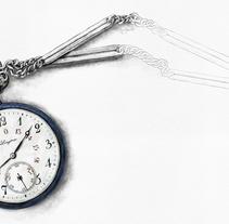 Pocket watch from 1912. Um projeto de Ilustração e Artes plásticas de Joana Araújo Bruno         - 08.08.2014