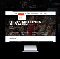 Redesign of BEC Handball. A UI / UX, Art Direction, and Web Design project by Frouin Emma         - 11.07.2014