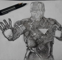 Iron Man. A Illustration project by Erick Miguel  Martínez Ortega       - 11-08-2014