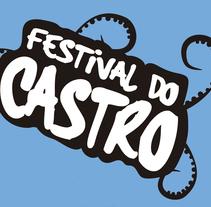 """Camiseta """"Festival do Castro"""". Un proyecto de Diseño de Ana Mouriño - 12-08-2014"""