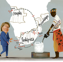 Bachelet en África. A Illustration project by Francisco Crespo         - 03.08.2014