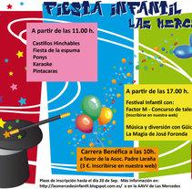 Cartel Fiesta infantil de Las Mercedes. Un proyecto de Publicidad y Diseño gráfico de Aliki Cau-Maf         - 16.08.2014