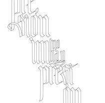 Lettering. A Design, T, and pograph project by Sofía Q.H - 26-08-2014
