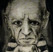 Serie Artistas. A Illustration, and Fine Art project by carmen esperón - 31-08-2014