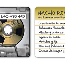 Tarjetas NACHO ROMERO. A Design, Br, ing, Identit, and Graphic Design project by Marta Serrano Sánchez - Sep 10 2014 12:00 AM