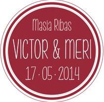 Branding Boda Victor&Meri - 2014. Un proyecto de Diseño, Br, ing e Identidad, Eventos y Tipografía de Sara Pau         - 16.05.2014