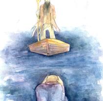 Sobre las aguas. Acuarela. A Illustration project by Emma Jimeno         - 21.09.2014