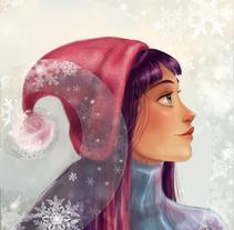 Tarjeta navideña. Um projeto de Ilustração de Arbetta         - 21.09.2014