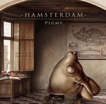 """Hamsterdam"" El diorama. A Illustration project by Óscar Sanmartín Vargas         - 22.09.2014"