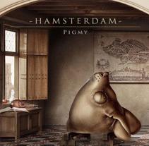 """""""Hamsterdam"""" El diorama. A Illustration project by Óscar  Sanmartín Vargas - 09.23.2014"""