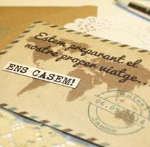 Diseño de invitaciones. Un proyecto de Diseño gráfico de Sara Urrea         - 04.10.2014