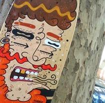 urkin skateboard. Um projeto de Design, Ilustração e Design de personagens de Maikol De Sousa         - 07.10.2014