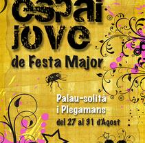 Primer premio de carteles de fiesta mayor 2009. A Design project by Jose Cañete Campin         - 14.10.2014
