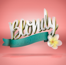 Blondy Sexy Bombón. A Illustration, Fashion, Painting, T, and pograph project by Javi Viewer         - 17.09.2014