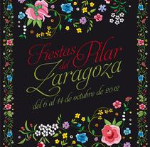 Cartel Fiestas del Pilar 2012 . A Illustration, and Graphic Design project by César Calavera Opi - Oct 22 2014 12:00 AM