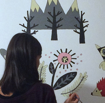 Mural para Jare. A Illustration, and Painting project by Ruth Juan         - 19.10.2014