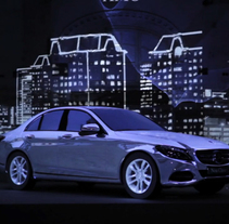 Videomapping Mercedes. A Motion Graphics, Installations, Film, Video, TV, and Animation project by Sergi Esgleas         - 29.10.2014