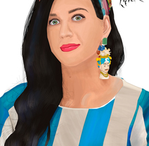 Katy Perry. A Illustration project by Erick Miguel  Martínez Ortega       - 01-11-2014