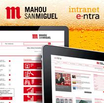 Intranet Grupo Mahou-San Miguel. Um projeto de UI / UX e Web design de Roberto Martín         - 06.11.2014