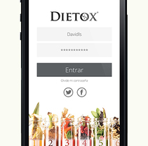 Dietox móvil App. A Web Design project by allende lopez - Nov 10 2014 12:00 AM