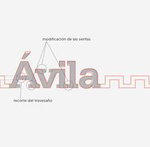 Ávila. Un proyecto de Br, ing e Identidad, Diseño y Diseño gráfico de Clara Paradinas Paz - Martes, 15 de diciembre de 2009 00:00:00 +0100