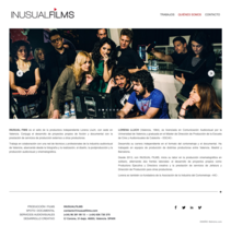 Inusual Films – Diseño web. A Film, Video, TV, Web Design, and Web Development project by Miguel Ángel Reino         - 20.11.2014