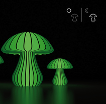 MushroomLight. A Product Design project by Luis Gómez Ricart - 30-11-2012