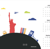 Cities in colourful seasons. Un proyecto de Diseño e Ilustración de Aida Antolin         - 02.12.2014