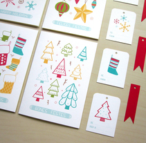 Colección - Tarjetas Navideñas. A Illustration, and Product Design project by Alejandra Morenilla - 08-12-2014