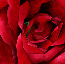 Rosa. A Fine Art, and Painting project by Alejandra Salas Burgos         - 08.05.2014