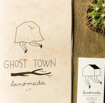 "GHOST TOWN ~ fanzine. A Illustration, and Editorial Design project by ""lanómada"" Lisbel Gavara - Illustration         - 11.12.2014"