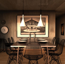 Comedor . A 3D&Interior Architecture project by Maria Gonzalez         - 12.12.2014