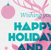 Christmas card. Un proyecto de Dirección de arte, Diseño gráfico e Ilustración de le  dezign - Miércoles, 17 de diciembre de 2014 00:00:00 +0100