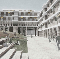 Concurso_Alemania_AACHEN-CampusWest. A Architecture project by Abraham Muñoz - 01-01-2015