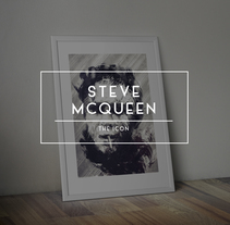 Steve McQueen The Icon. Um projeto de Direção de arte, Artesanato, Artes plásticas e Pintura de Federico Cerdà         - 18.01.2015