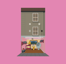 Flat flats. A Illustration project by Pablo Alvin         - 21.01.2015