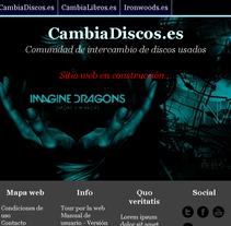 CambiaDiscos.es - Comunidad de intercambio de discos antigüos - Portada. A Web Design project by Moisés Alcocer - 19-02-2015