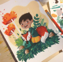 Custom Illustration. A Illustration project by Lydia Sánchez Marco - Feb 25 2015 12:00 AM