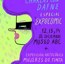 Charlas con Dafne. A Illustration project by Ana Galvañ - Feb 27 2015 12:00 AM
