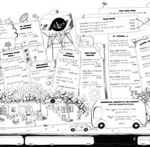 Menú para el Luca. Um projeto de Design, Ilustração, Artes plásticas e Design gráfico de Cristina DM Marín - 07-03-2015