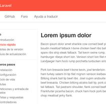 Laravel en castellano, simple UI. Um projeto de UI / UX e Web design de Álvaro Bernal Nicolás         - 08.02.2015