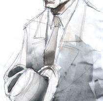Film noir. A Illustration project by Iker Sticher Carrera         - 08.03.2015