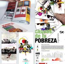 Exposición de carteles sobre las razones de la Pobreza. Un proyecto de Diseño e Ilustración de Israel Bernardo Valdaliso         - 13.03.2015