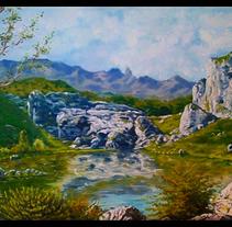 Proyecto artístico: Oleo de Asturias.. Um projeto de Artes plásticas, Paisagismo e Pintura de Ángel J. Alonso Moruno         - 12.09.2014