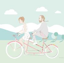 Invitación de Boda. Un proyecto de Diseño, Ilustración y Bellas Artes de Cecilia Sánchez  - 06-04-2015