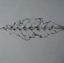 Hoja basándome en base a un artista en el tatuaje Ilya brezinski . Um projeto de Ilustração de erick camacho plata         - 05.05.2015