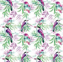 Pájaros - Proyecto Motivos para Repetir. Um projeto de Design, Ilustração, Publicidade, Design de acessórios, Design gráfico, Design de interiores, Packaging, Pintura e Design de produtos de SuG          - 11.06.2015